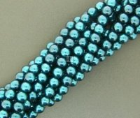 Chinese Glass Pearl Round 4mm 200pcs Lt Blue