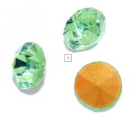 Chaton Faceted Gold Foiled SS-22 4.9 to 5.0 mm Peridot 20 pcs