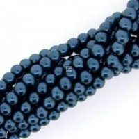 Chinese Glass Pearl Round 16 mm 27pcs Air Force Blue