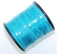 Waxed cord 1mm Turquoise 5m