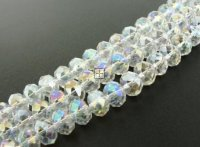 Crystal Glass Rondelle 6x8mm 70pcs Crystal AB