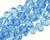 Crystal Glass Rondelle 6x8mm 68pcs Montana