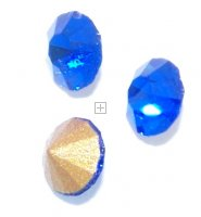 Chaton Faceted Gold Foiled SS-22 4.9 to 5.0 mm Sapphire 20 pcs