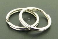 Split Ring 25mm 20pcs Antique Silver