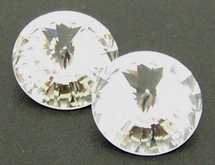 Crystals Glass Rivoli 16mm Crystal 2pcs