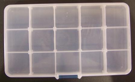 Organiser box 17x10cm 15 compartments