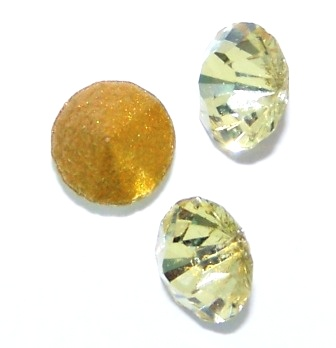 Chaton Faceted Gold Foiled SS-06 2.0 mm Jonquil 20 pcs