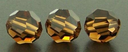 Swarovski round 8mm Smoked Topaz 12pcs