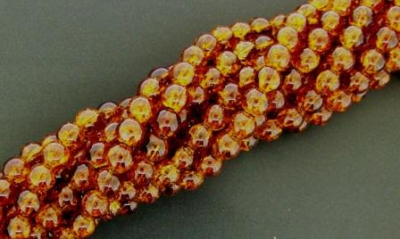 Crackle Round 6mm 155pcs Topaz