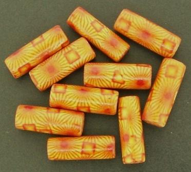 Wooden Bead Tube 20x7mm Painted 25g
