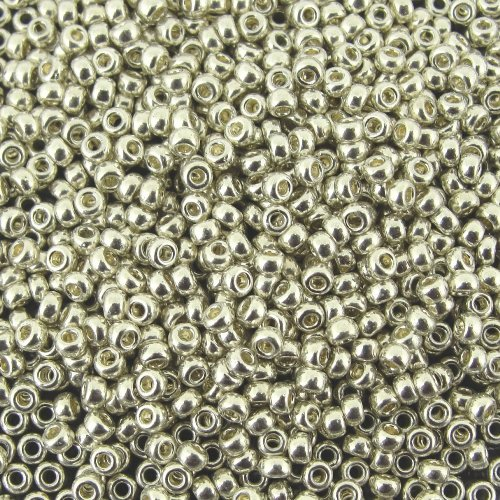 Miyuki Rocaille Seed Beads Size 15/0 10g Galvanized Silver