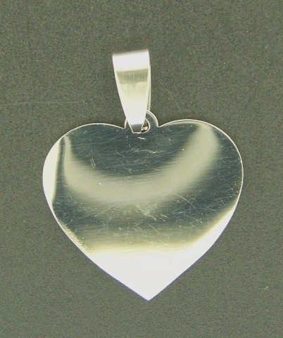 Pendant Heart 30mm 1pc Stainless Steel