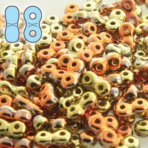 Infinity Beads 3 x 6mm 8g California Goldrush