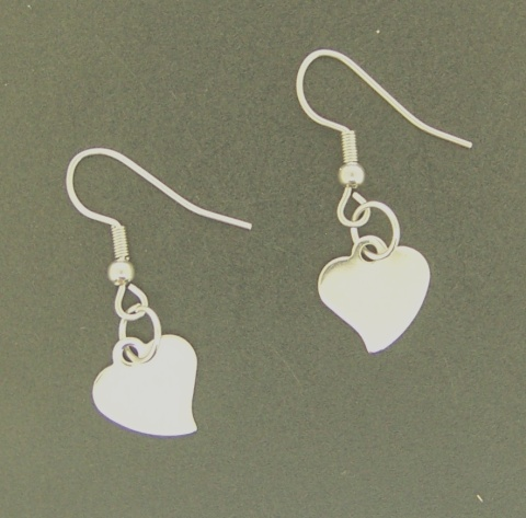Kit - Stainless Steel Ear Wire With Heart Charm