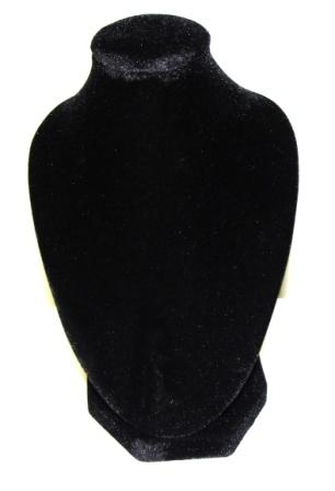 Neck Stand with Velvet Small 17x10cm Black