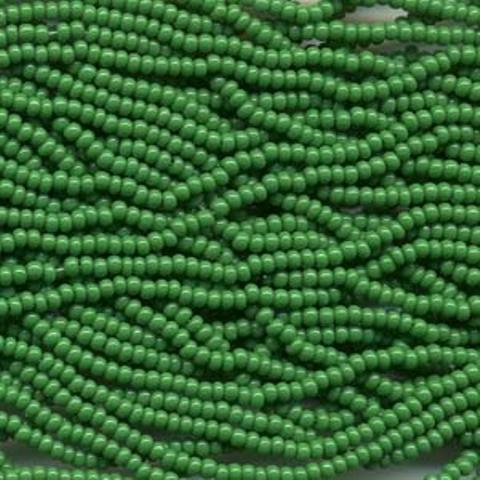 Czech Seed Beads Size 8/0 6-Strand 6St Green Opaque