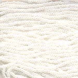 Czech Seed Beads Size 11/0 6-Strand White Pearl
