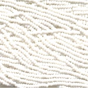 Czech Seed Beads Size 8/0 6-Strand Chalk White