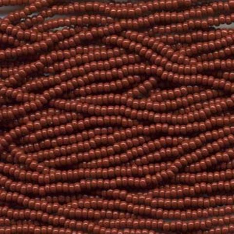 Czech Seed Beads Size 8/0 6-Strand Brown Opaque