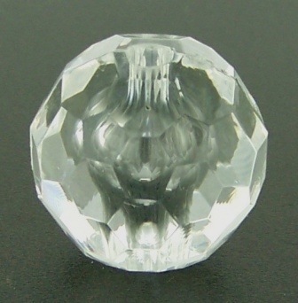 Acrylic Faceted Round 16mm 23pcs Crystal Clear
