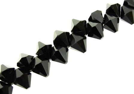 Crystal Bicone Top Drilled 6mm 50pcs Jet