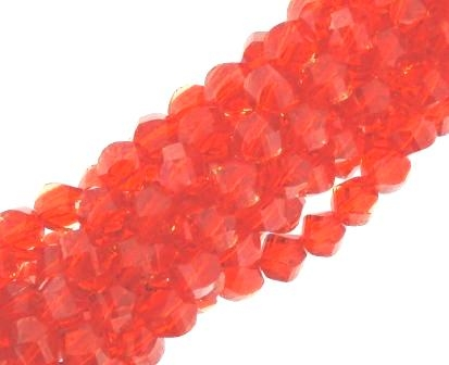 Crystal Glass Faceted Twist 10mm 72pcs Pomegranite Luster