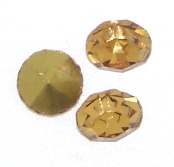 Chaton Faceted Gold Foiled SS-22 4.9 to 5.0 mm Topaz 20 pcs