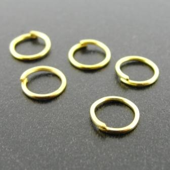 Jump Ring 0.7x7mm 144pcs Gold Plated