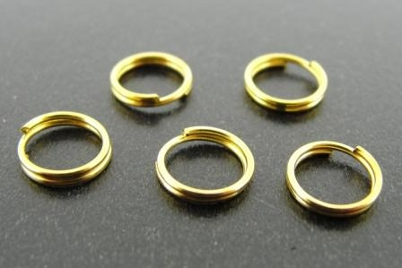 Split Ring 7mm 144pcs Gold Plated