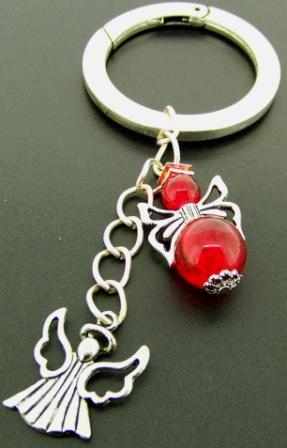 Kit - Handbag Charm With Angels - Red
