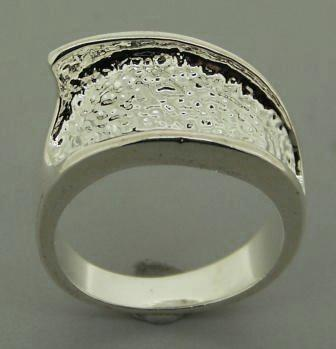 Pewter Rhodium Plated Ring Size 6.5 1pc