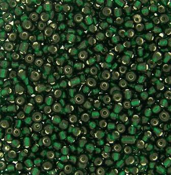 Seedbead Silver Lined 11/0 500g Emerald