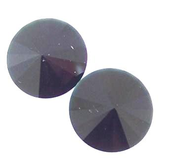 Crystal Glass Rivoli 16mm Jet Unfoiled 2 pcs