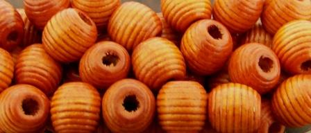 Wooden Bead Honey Comb 12mm Rustic